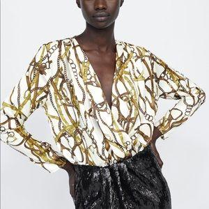 NEW Versace Insp. Chain Print Bodysuit
